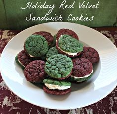 Holiday Red Velvet Sandwich Cookies With Cream Cheese Frosting Recipe on Yummly. @yummly #recipe