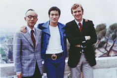 Very Rare. Photo of Raymond Chow + Bruce Lee+ Man I don't know?