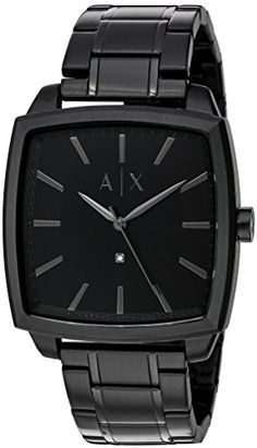 Armani Exchange Mens Black IP Watch   Check out this great product. 44ff53b657