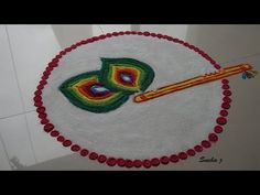 Unique Rangoli Design using Chalni easy rangoli simple rangoli - YouTube
