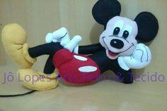 Mickey Mouse de feltro para mesa de festa