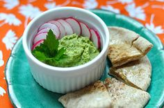 Garlicky white bean spread with parsley and toasted cumin - I'm a huge fan of bean spreads like hummus. Easy enough to make, this is a fantastic dip for veggies or even apples believe it or not. For us 6 meal-a-day folk, it's great for that mini 2nd or 4th meal of the day. Light but packing power.