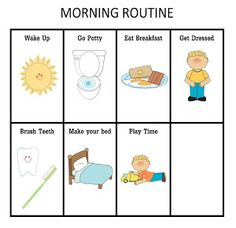 ourhomecreations: Morning Routine Chart for Boy or Girl
