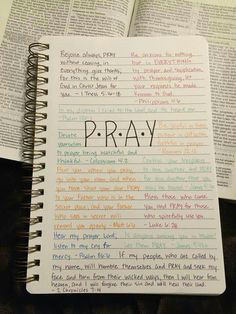 Pray with Bible verses bullet journal page