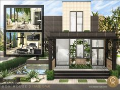 Box House 2 by Cross Architecture for The Sims 4