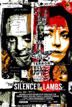Hannibal Lecter in The Silence of the Lambs Best Movie Posters, Movie Poster Art, Cool Posters, Horror Movie Posters, Cinema Posters, Horror Movies, Cult Movies, Horror Art, Lamm Tattoo