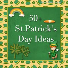 A round up of over 50 different St. Patrick's Day ideas with many great things to do on this list. Crafts, recipes, free printables, lesson plans, and much more!