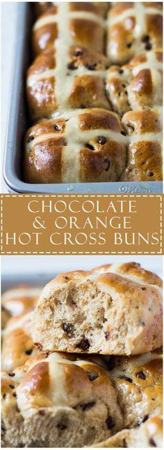 Chocolate and Orange Hot Cross Buns | Marsha's Baking Addiction