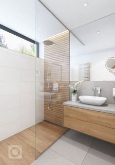 54 Trendy Bathroom Shower Ideas White Walk In Wood Bathroom, Diy Bathroom Decor, Bathroom Layout, Modern Bathroom Design, Bathroom Interior Design, Modern Bathrooms, Bathroom Ideas, Shower Ideas, Bathroom Organization