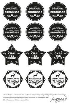Geschenke aus der Küche: Chai-Tee-Sirup und alle Labels als free printables! – feiertäglich…das schöne Leben