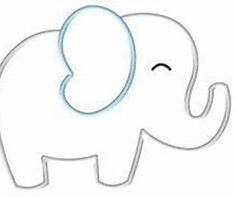 Image result for Free Printable Elephant Pattern