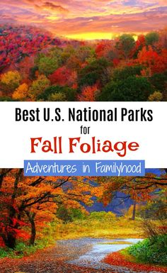 """Looking for a great quiet place to take in the beauty of Fall? Look no further than our National Parks. Here are the 10 Best National Parks for """"Leaf Peeping"""". Travel With Kids, Family Travel, Family Vacation Destinations, Travel Destinations, Travel Usa, Travel Tips, Autumn Activities, Cool Places To Visit, State Parks"""