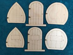 #Laser cut wooden #fairy elf #hobbit doors pack of 10, View more on the LINK: http://www.zeppy.io/product/gb/2/121717440110/