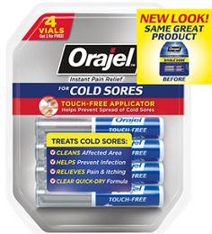 Possible FREE Orajel Touch-Free Cold Sore Treatment on http://hunt4freebies.com