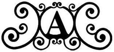 Wrought Iron House Plaque Let A -24 In