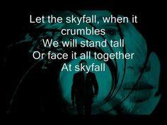 Adele - Skyfall Lyrics on screen