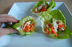Buffalo chicken wraps in crock pot. I store bought yogurt based blue cheese dressing. Leaves you with extra chicken stock from crock pot.