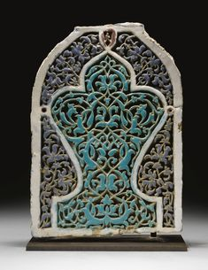 A RARE AND MONUMENTAL TIMURID TILE PANEL, TRANSOXIANA, LATE 14TH/EARLY 15TH CENTURY