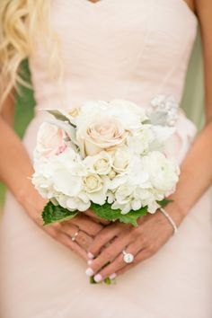 Classically elegant springtime bridesmaid bouquet: http://www.stylemepretty.com/little-black-book-blog/2015/02/04/romantic-belle-meade-plantation-wedding-2/   Photography: Bamber - http://www.bamberphotography.com/