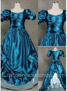 Gothic Victorian Graceful Vintage Blue Lolita Dress