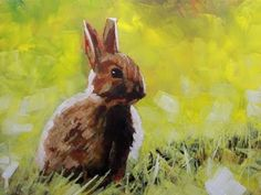 How to Paint with Acrylics on Canvas:Abstract Realist Painting of a Rabbit - YouTube