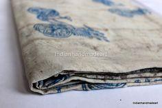 1 Yard Indian Hand Block Print fabric 100% Cotton resit dabu Print fabric 07 #Handmade