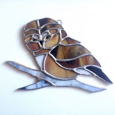 Stained glass owl, the new item in my shop! Stained Glass Suncatchers, I Shop, Owl, Birds, Owls, Bird