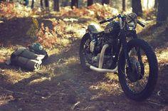 Motorcycle camping road trip