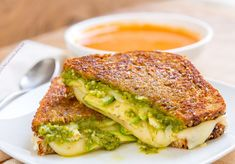 This Three Cheese Pesto Avocado Grilled Cheese is soooo good! It features creamy Cheese with rich avocado, and herby pesto all grilled to ooey gooey goodness that you will swoon over! Pesto Grilled Cheeses, Grilled Cheese Avocado, Grilled Cheese Recipes, Avocado Pesto, Avocado Toast, Sandwiches, Avocado Health Benefits, Toast Sandwich, Good Healthy Recipes