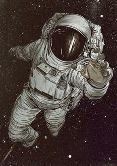 Astronaut art Mais