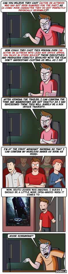 DORKLY COMIC: The Cycle of Reacting to Comic Book Movie Casting