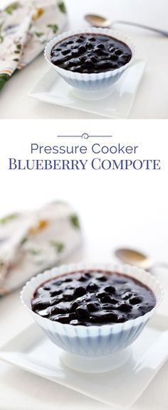 This sweet, tart Pressure Cooker Blueberry Compote is quick and easy to make with frozen blueberries. Make some today!