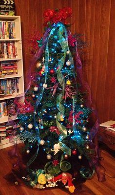 Blue Lights. Little Mermaid Tree