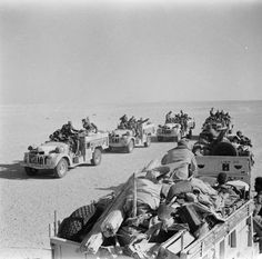 Two Long Range Desert Group patrols meet in the desert. Tunisia 1943