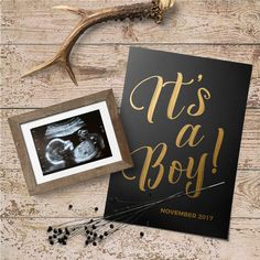 It's A Boy Announcement, Cute Pregnancy Announcement, Gender Announcements, Gender Party, Baby Gender, Simple Gender Reveal, Second Pregnancy, Baby Quotes, Baby Scrapbook