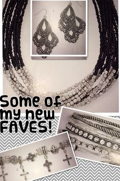 Premier Designs Jewelry #pdstyle Sabine Necklace, Frills earrings, Daily Devotion charm bracelet and Stacktastic set of 5 bangles get more only on http://freefacebookcovers.net