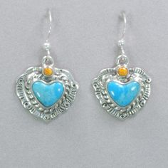 f3397e837 Coral and Turquoise Heart Earrings Rainbow Bridge, Heart Earrings, Heart  Pendants, The Rainbow