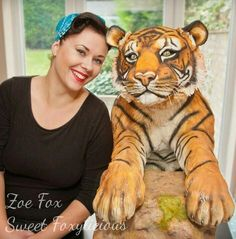Life Size Tiger Cake - Bakers Unite To Fight by Sweet Foxylicious