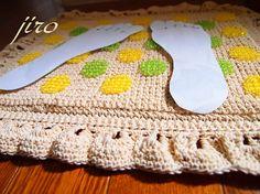 ビーズ編みの足ふきマット