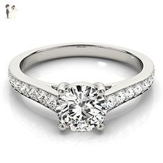 Classic Graduated Unique Forever Moissanite Engagement Ring 0.85 Ctw - Wedding and engagement rings (*Amazon Partner-Link)