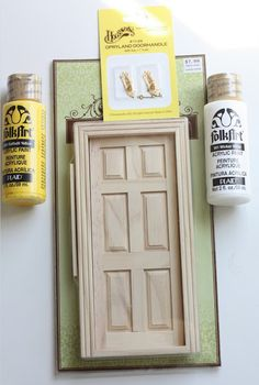 DIY Tutorial to create a Tooth Fairy door for your little one's loose teeth.  Adorable!