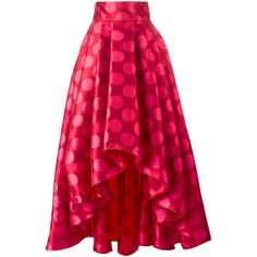 Ultràchic polka dots full skirt ($965) ❤ liked on Polyvore featuring skirts, red, dot skirt, red polka dot skirt, pink skirt, red skirts and full skirt