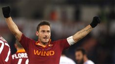 Roma captain scores his 225th goal in Serie A.