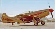 "P-51D, (N5410V) would eventually become ""Dago Red"" . . ."