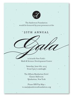 Unique Gala Invitations on plantable paper ~ Fancy Fundraising by Green Business Print