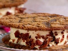 Molasses Cookie Sandwiches from FoodNetwork.com.  Just love the addition of the crumbled bacon