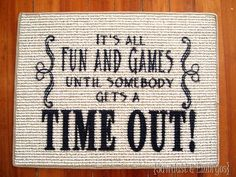 Portable Time-out Mat ~ using vinyl to stencil a carpet square! {Sawdust and Embryos}