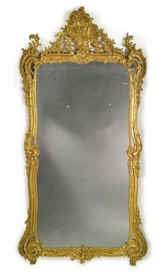 A Louis XV carved giltwood mirror circa 1750