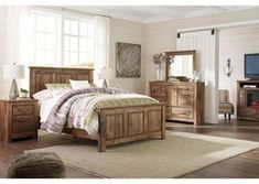 Blaneville King Bedroom Group by Signature Design by Ashley at Standard Furniture Rustic Bedroom Furniture, Rustic King Bedroom Set, Kitchen Furniture, Steel Furniture, Luxury Furniture, Bathroom Furniture, Modern Furniture, Wood Bed Design, Kids Bedroom Sets