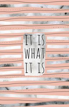 It Is WhatIt Is (Peach) by Jacqueline Maldonado